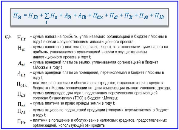 формула притока денежных средств
