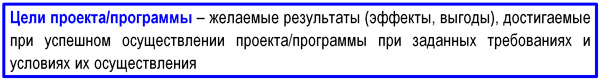 определение цели проекта