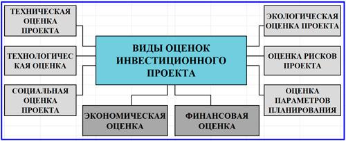виды оценок инвестиционного проекта